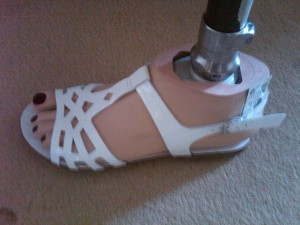 White left sandal