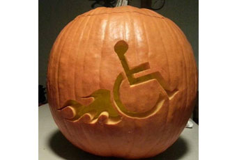 halloween wheelchair pumpkin