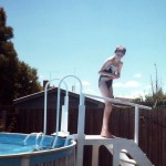 Amanda age 14 at the swimming pool