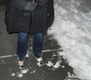 Snow on my toes