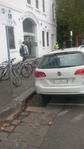 Bisabled Parking Bay with bike racks