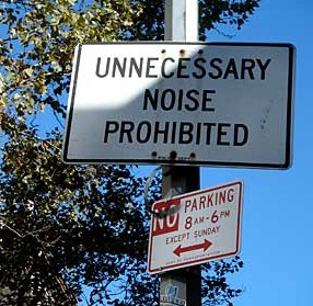 unnecessary noise