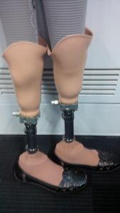 Bare prosthetic legs