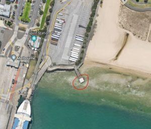 small jetty alongside station pier