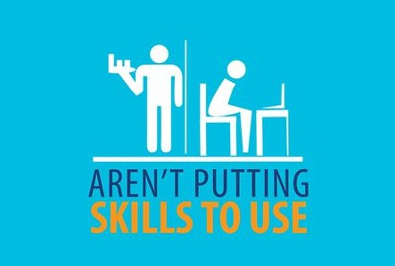 Sign: Aren't putting skills to use
