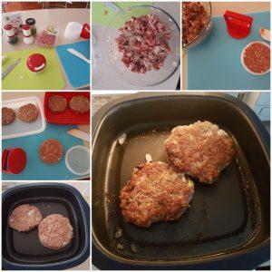 Tupperware MicroGrill with Hamburgers